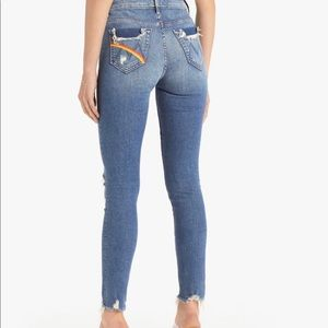 Mother high waisted looker ankle chew size 34